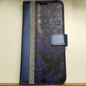 """Wallet case for iphone xs max 6.5"""" blue-black new"""